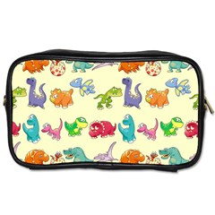 Group Of Funny Dinosaurs Graphic Toiletries Bags 2 Side by BangZart