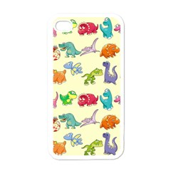 Group Of Funny Dinosaurs Graphic Apple Iphone 4 Case (white) by BangZart