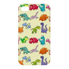 Group Of Funny Dinosaurs Graphic Apple Iphone 4/4s Premium Hardshell Case by BangZart