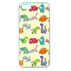 Group Of Funny Dinosaurs Graphic Apple Seamless Iphone 5 Case (color) by BangZart