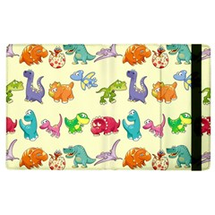 Group Of Funny Dinosaurs Graphic Apple Ipad 3/4 Flip Case by BangZart
