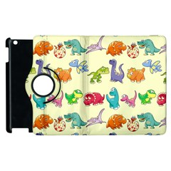 Group Of Funny Dinosaurs Graphic Apple Ipad 3/4 Flip 360 Case by BangZart