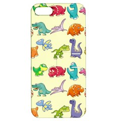 Group Of Funny Dinosaurs Graphic Apple Iphone 5 Hardshell Case With Stand by BangZart