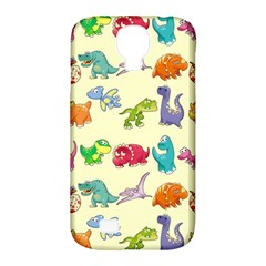 Group Of Funny Dinosaurs Graphic Samsung Galaxy S4 Classic Hardshell Case (pc+silicone) by BangZart