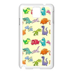 Group Of Funny Dinosaurs Graphic Samsung Galaxy Note 3 N9005 Case (white)