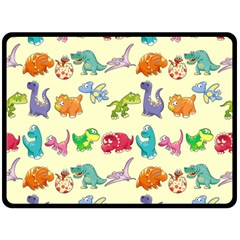 Group Of Funny Dinosaurs Graphic Double Sided Fleece Blanket (large)  by BangZart