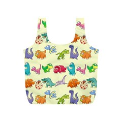 Group Of Funny Dinosaurs Graphic Full Print Recycle Bags (s)