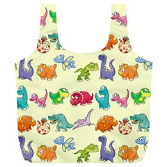 Group Of Funny Dinosaurs Graphic Full Print Recycle Bags (l)