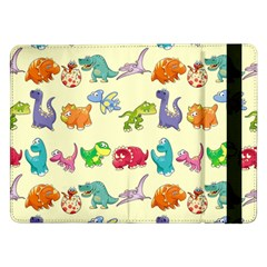 Group Of Funny Dinosaurs Graphic Samsung Galaxy Tab Pro 12 2  Flip Case by BangZart