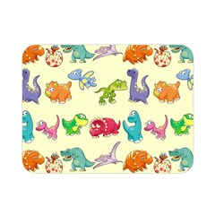 Group Of Funny Dinosaurs Graphic Double Sided Flano Blanket (mini)  by BangZart
