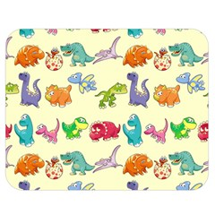 Group Of Funny Dinosaurs Graphic Double Sided Flano Blanket (medium)  by BangZart