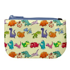 Group Of Funny Dinosaurs Graphic Large Coin Purse by BangZart