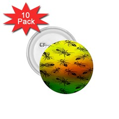 Insect Pattern 1 75  Buttons (10 Pack)
