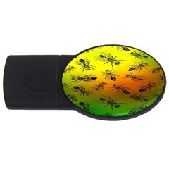 Insect Pattern Usb Flash Drive Oval (4 Gb)