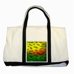 Insect Pattern Two Tone Tote Bag