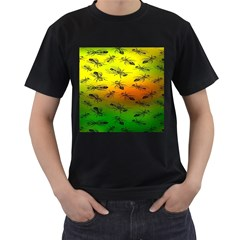 Insect Pattern Men s T Shirt (black)