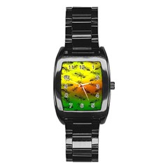 Insect Pattern Stainless Steel Barrel Watch
