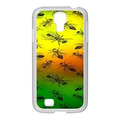 Insect Pattern Samsung Galaxy S4 I9500/ I9505 Case (white)