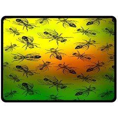 Insect Pattern Double Sided Fleece Blanket (large)  by BangZart