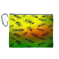 Insect Pattern Canvas Cosmetic Bag (xl) by BangZart
