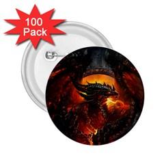 Dragon Legend Art Fire Digital Fantasy 2 25  Buttons (100 Pack)