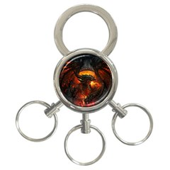 Dragon Legend Art Fire Digital Fantasy 3 Ring Key Chains by BangZart
