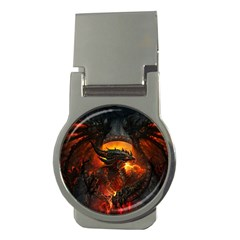 Dragon Legend Art Fire Digital Fantasy Money Clips (round)