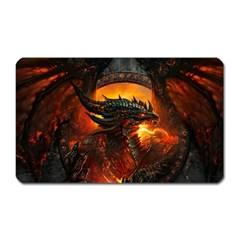 Dragon Legend Art Fire Digital Fantasy Magnet (rectangular)