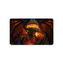 Dragon Legend Art Fire Digital Fantasy Magnet (name Card)