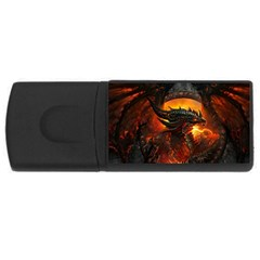 Dragon Legend Art Fire Digital Fantasy Rectangular Usb Flash Drive