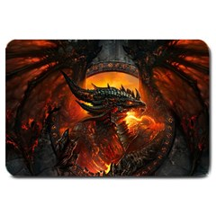 Dragon Legend Art Fire Digital Fantasy Large Doormat