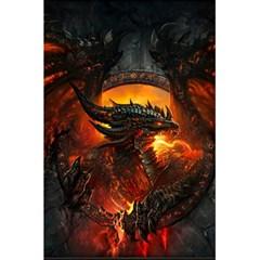 Dragon Legend Art Fire Digital Fantasy 5 5  X 8 5  Notebooks