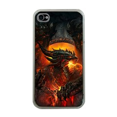 Dragon Legend Art Fire Digital Fantasy Apple Iphone 4 Case (clear) by BangZart