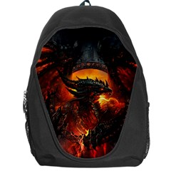 Dragon Legend Art Fire Digital Fantasy Backpack Bag by BangZart