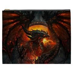 Dragon Legend Art Fire Digital Fantasy Cosmetic Bag (xxxl)