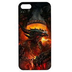 Dragon Legend Art Fire Digital Fantasy Apple Iphone 5 Hardshell Case With Stand