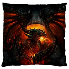 Dragon Legend Art Fire Digital Fantasy Standard Flano Cushion Case (two Sides)