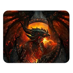 Dragon Legend Art Fire Digital Fantasy Double Sided Flano Blanket (large)