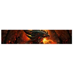 Dragon Legend Art Fire Digital Fantasy Flano Scarf (small)