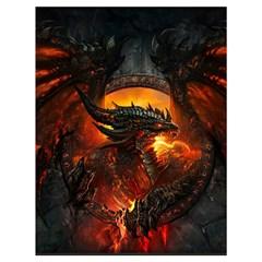 Dragon Legend Art Fire Digital Fantasy Drawstring Bag (large)