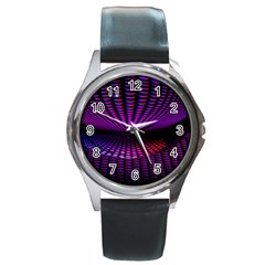 Glass Ball Texture Abstract Round Metal Watch