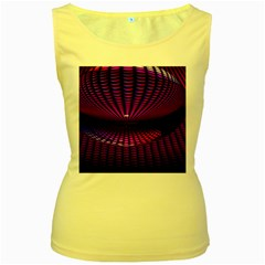 Glass Ball Texture Abstract Women s Yellow Tank Top