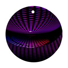 Glass Ball Texture Abstract Round Ornament (two Sides)