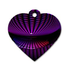 Glass Ball Texture Abstract Dog Tag Heart (one Side)