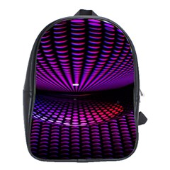 Glass Ball Texture Abstract School Bags(large)