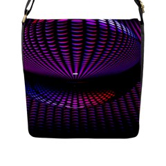 Glass Ball Texture Abstract Flap Messenger Bag (l)