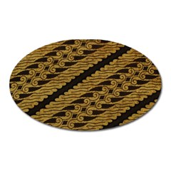 Traditional Art Indonesian Batik Oval Magnet by BangZart