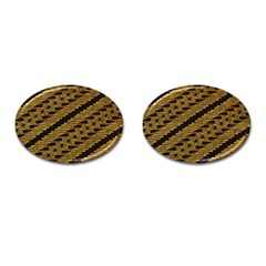 Traditional Art Indonesian Batik Cufflinks (oval) by BangZart