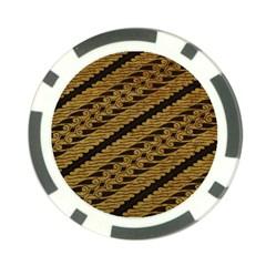 Traditional Art Indonesian Batik Poker Chip Card Guard (10 Pack)