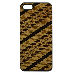 Traditional Art Indonesian Batik Apple Iphone 5 Seamless Case (black) by BangZart